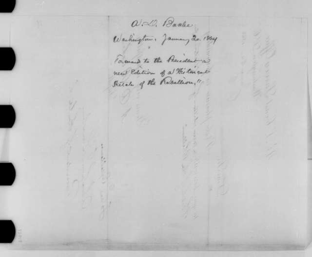 Alexander D. Bache to Abraham Lincoln, Wednesday, January 20, 1864  (Cover letter)
