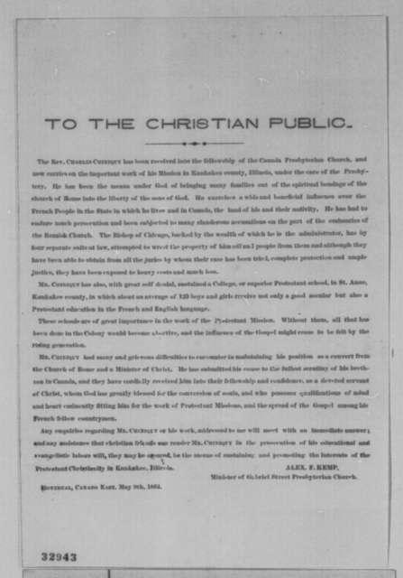 Alexander F. Kemp, Monday, May 09, 1864  (Printed circular)