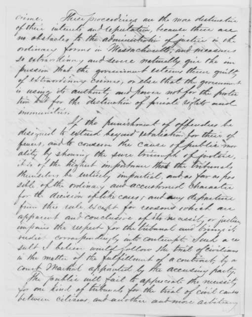 Alexander H. Rice to Abraham Lincoln, Monday, August 15, 1864  (Case of the Smith Brothers; with endorsements)