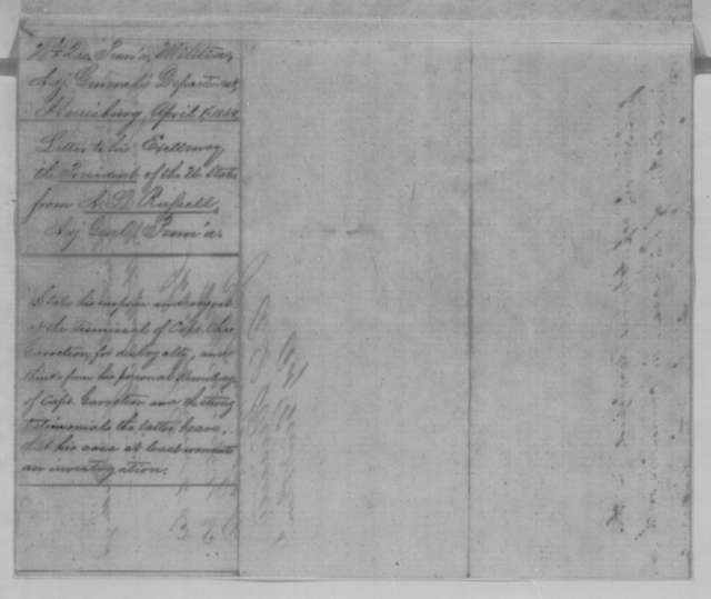 Alexander L. Russell to Abraham Lincoln, Friday, April 01, 1864  (Case of Charles Garretson)