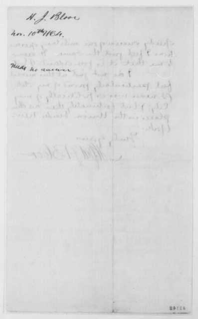 Alfred J. Bloor to John G. Nicolay, Thursday, November 10, 1864  (Congratulations)