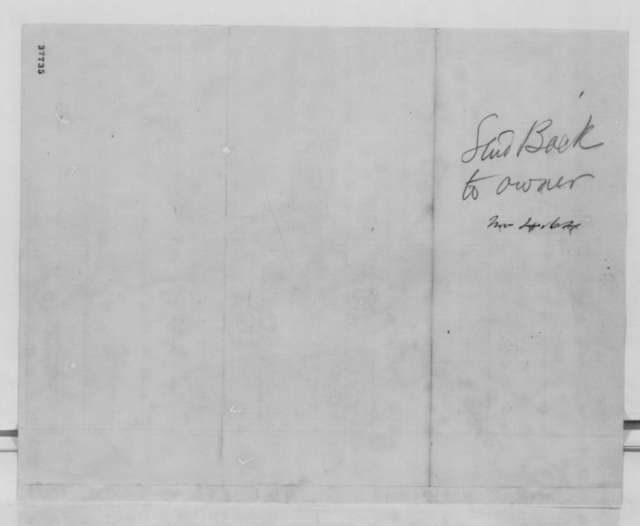 Allie E. Bonsall to Abraham Lincoln, Monday, October 31, 1864  (Autograph request)