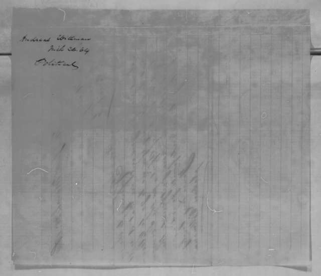 Andreas Wittmann to John G. Nicolay, Saturday, March 26, 1864  (Trip to Cleveland will not be necessary)