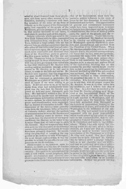 Another leaf from history! ... [Letter from James P. Holcomb to Hon. J. P. Benjamin Richmond. Nov. 16, 1864].