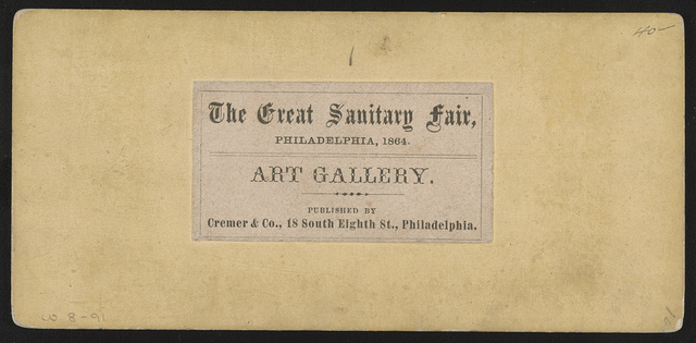 Art gallery, the Great Sanitary Fair, Philadelphia, 1864