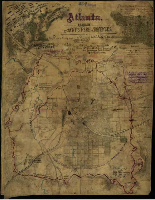 Atlanta, Georgia and its rebel defences [sic]