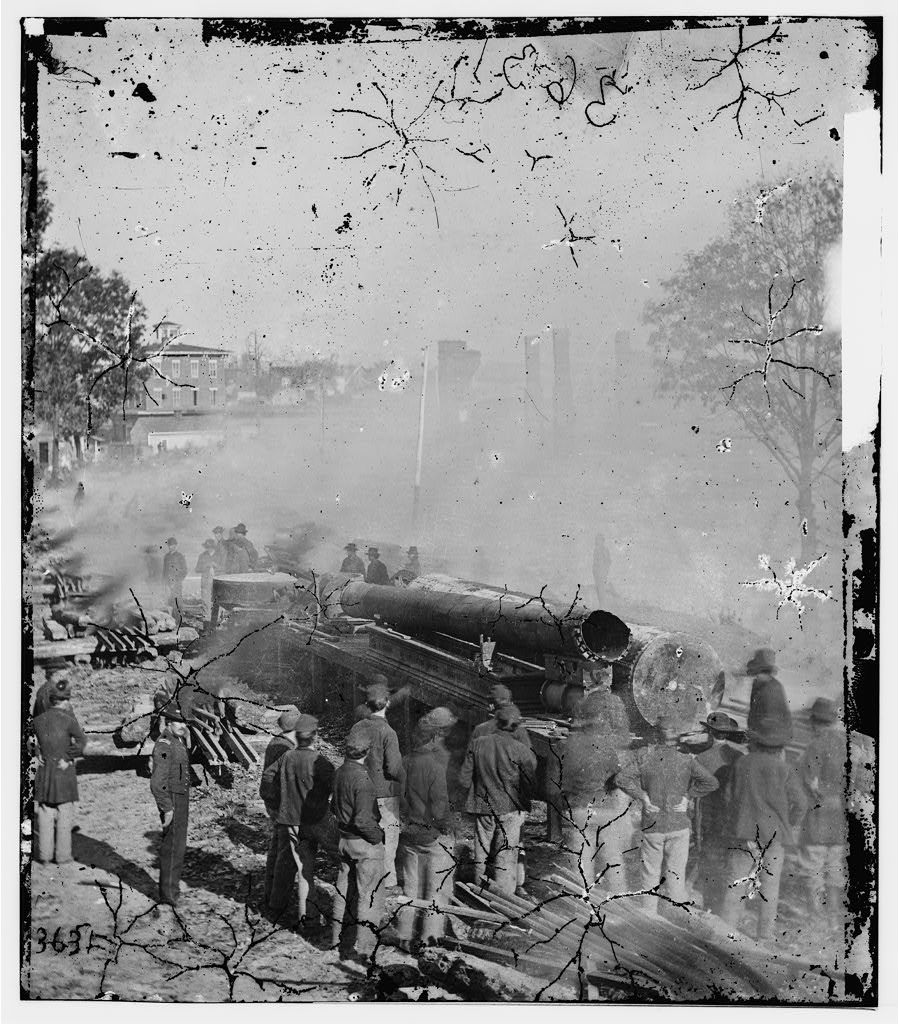 Atlanta, Georgia. Sherman's men destroying railroad