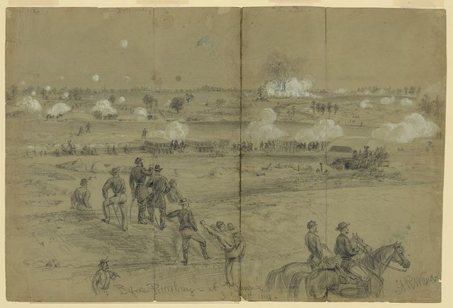 Before Petersburg at sunrise, July 30th 1864