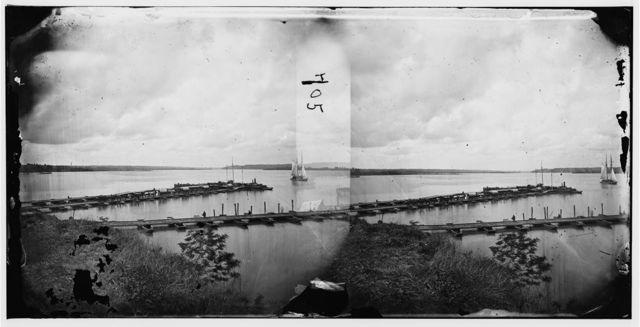 Belle Plain, Virginia. Pontoon wharf