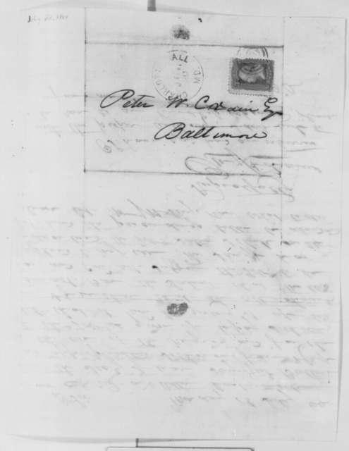 Benjamin Adams to Peter W. Crain, Monday, July 18, 1864  (Legal case)