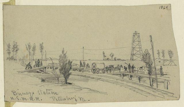 Birneys Station. U.S.M.R.R. Petersburg Va.