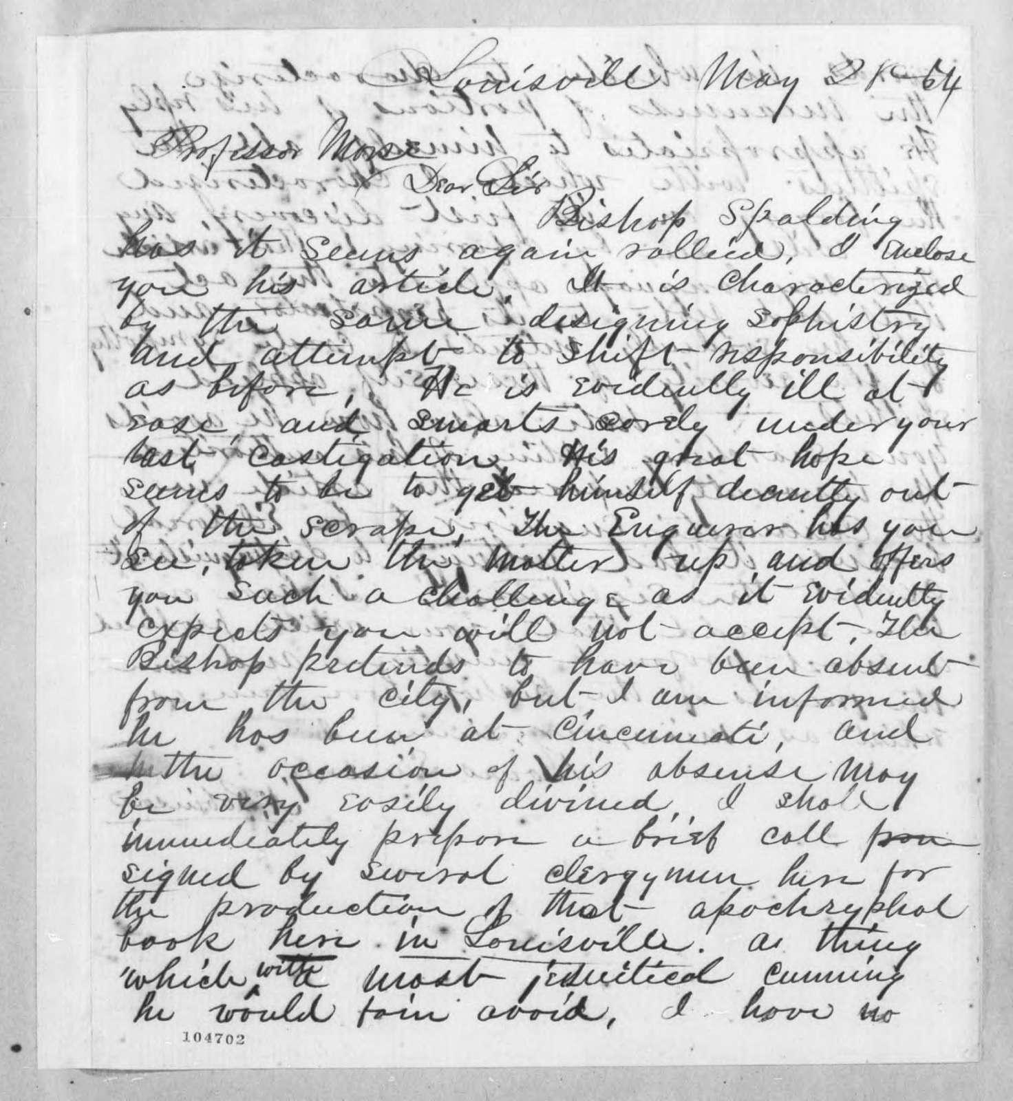 Bound volume---26 May 1864-22 October 1866