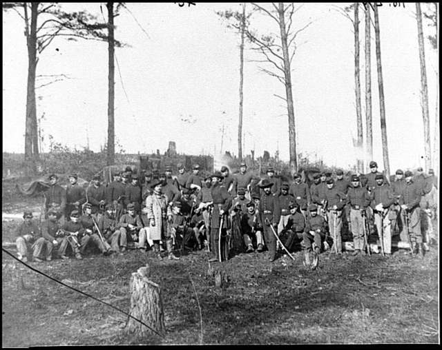 [Brandy Station, Va. Officers and men of Co. K, 1st U.S. Cavalry (1st Division, Cavalry Corps)]
