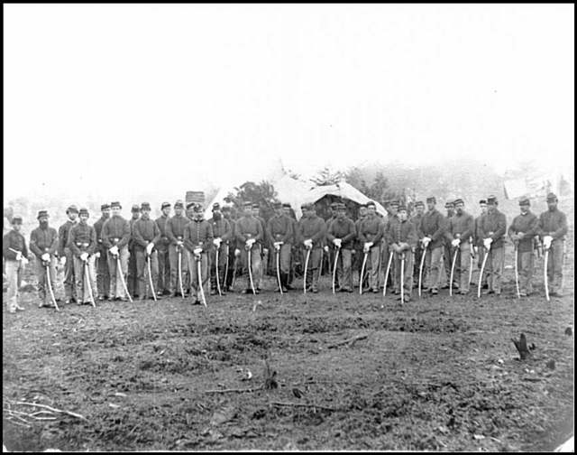 [Brandy Station, Va. Troopers of Co. D, 3d Pennsylvania Cavalry (2d Division, Cavalry Corps)]