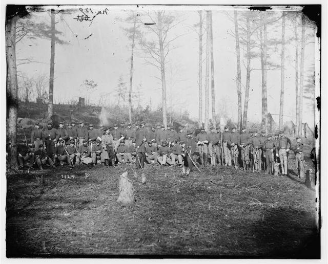 Brandy Station, Virginia. Detachment of 1st U.S. Cavalry
