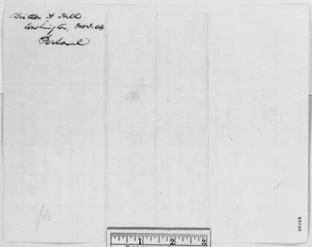Britton A. Hill to Abraham Lincoln, Monday, October 03, 1864  (Speech made by Orville H. Browning at Quincy)