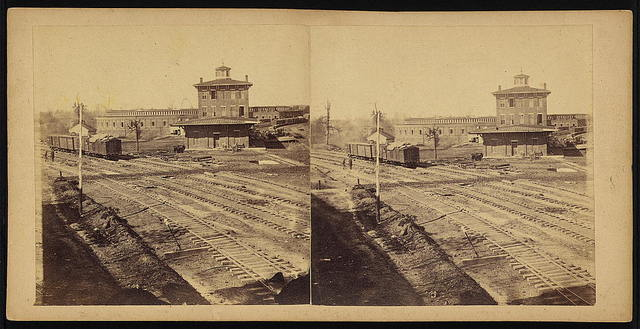 Buildings of the Western & Atlantic (state) R.R. at Atlanta, Ga., Nov. 1864. These were all destroyed a few days afterwards