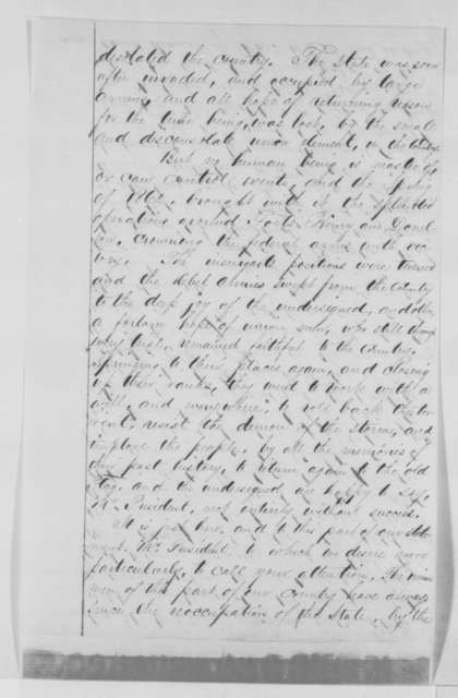 C. S. Marshall, et al. to Abraham Lincoln, Monday, September 26, 1864  (Citizens of Ballard County, Kentucky urge Lincoln to retain Gen. Solomon Meredith as commander)