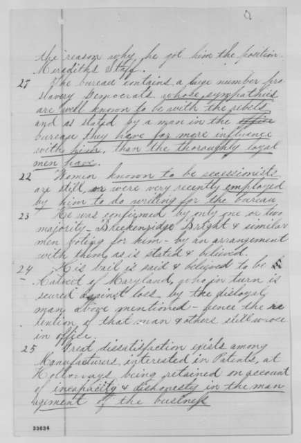 Calvin T. Hulburd, et al. to Abraham Lincoln, Wednesday, June 08, 1864  (Petition recommending removal of David P. Holloway)