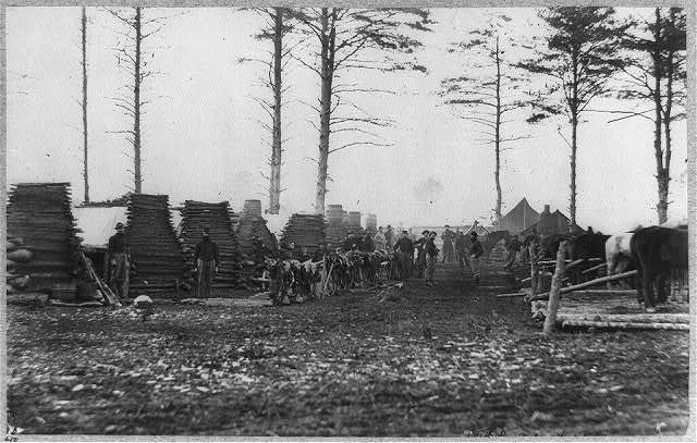 Camp of the 18th Pennsylvania Cavalry, February 1864