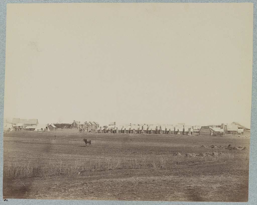 Camp of U.S. Engineer Battalion, Brandy Station, Va., March, 1864