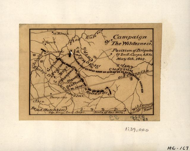 "Campaign of ""The Wilderness,"" position of brigades of 2nd Corps, A.N. Va. May 6th, 1864 /"