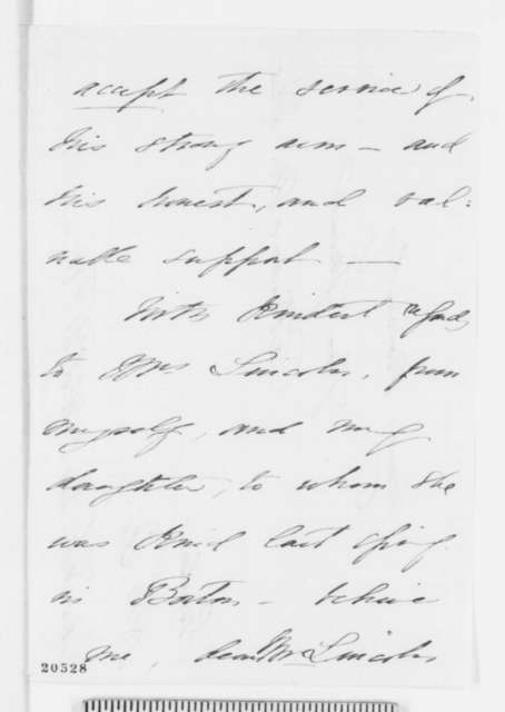 Catharine M. Dix to Abraham Lincoln, December 18 [1864]  (Urges support for her husband)