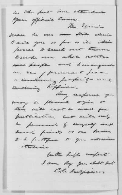 Charles D. Gilfillan to Abraham Lincoln, Tuesday, December 20, 1864  (Minnesota politics)