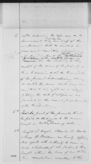 Charles K. Hawkes and Crafts J. Wright to Abraham Lincoln, Saturday, January 09, 1864  (Request for permit to sell cotton)