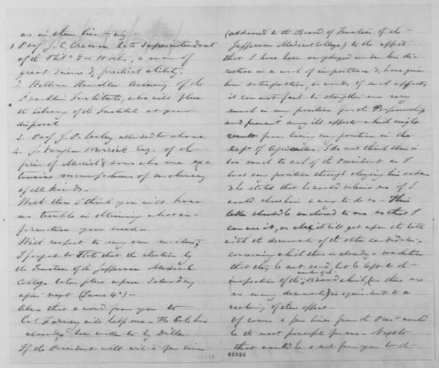 Charles M. Wetherill to John G. Nicolay, Thursday, May 26, 1864  (Requests letter; provides list of readings on oil)