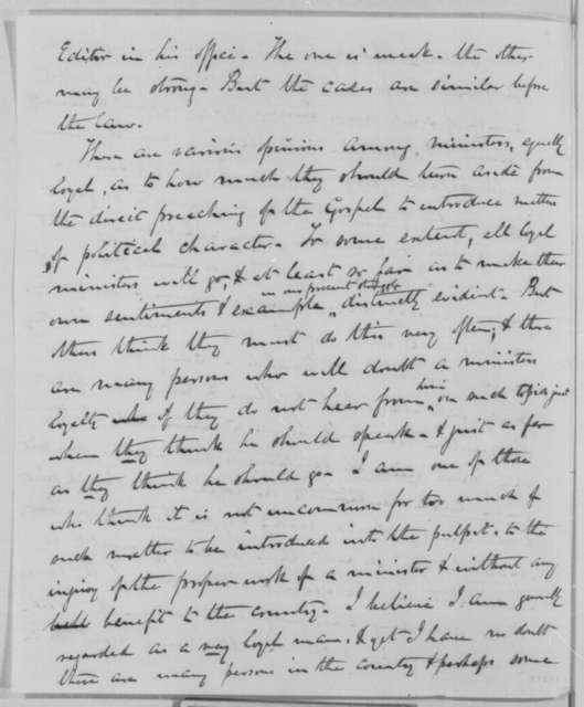 Charles P. McIlvaine to Abraham Lincoln, Friday, March 04, 1864  (General Butler's control over churches in Virginia)
