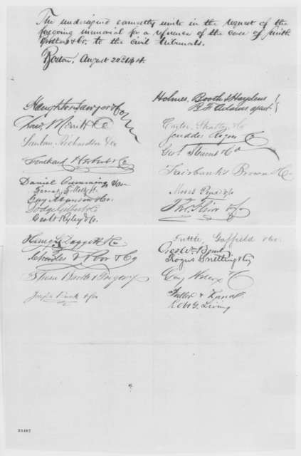 Charles Sumner, Henry Wilson, et al. to Abraham Lincoln, Monday, August 22, 1864  (Petition concerning case of Smith Brothers)