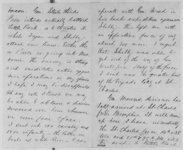 Christopher C. Andrews to Abraham Lincoln, Tuesday, September 06, 1864  (Military affairs in Arkansas)