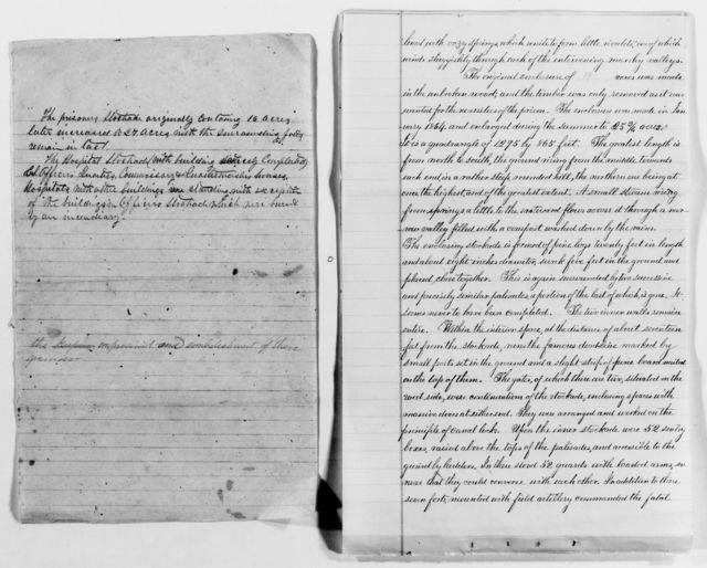 Clara Barton Papers: Subject File, 1861-1952; Civil War; Andersonville Prison, Georgia; Correspondence, 1864-1911, undated
