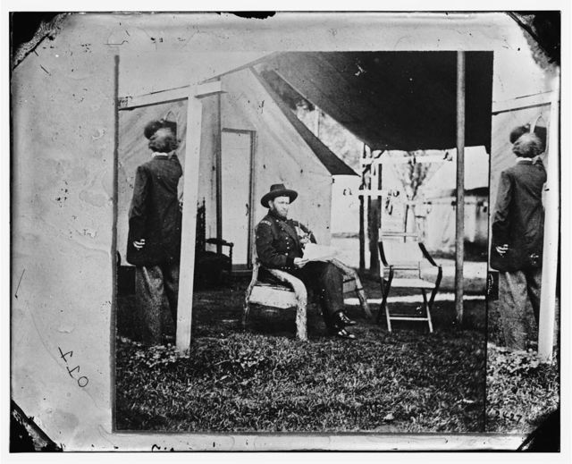 Cold Harbor, Virginia. U.S. Grant at his headquarters