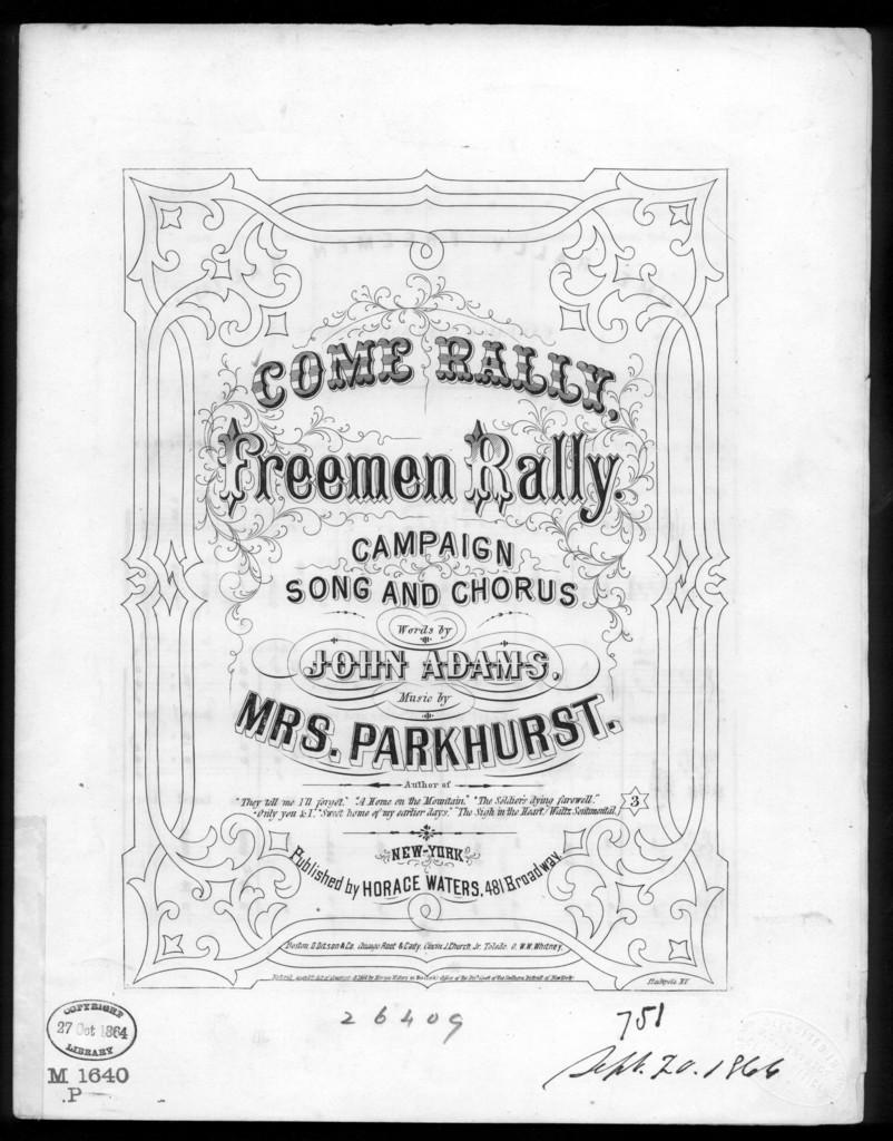 Come rally freemen, rally!