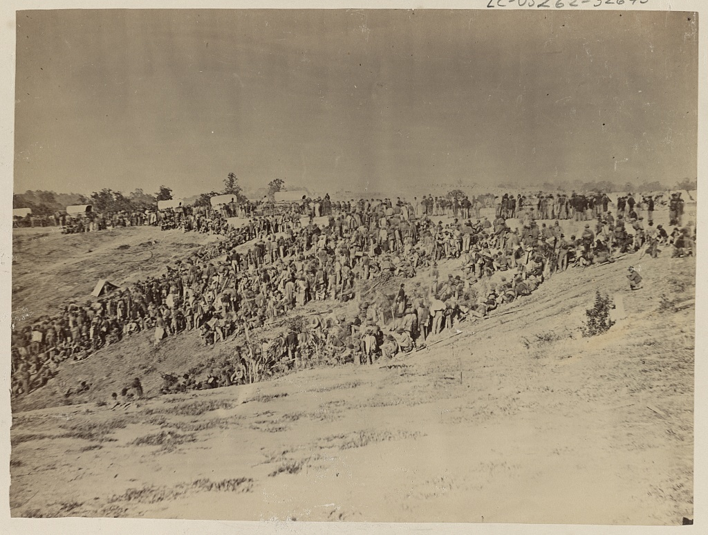Confederate prisoners at Belle Plain, captured at Spotsylvania, May 12, 1864