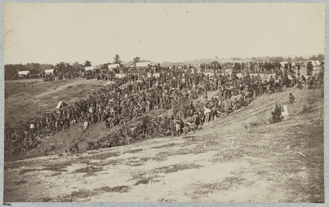 Confederate prisoners at Belle Plain Landing, Va., captured with Johnson's Division, May 12, 1864