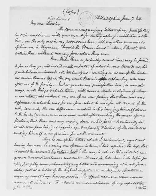 Cornelia J. Randolph to Lizzie Rivinus, June 7, 1864