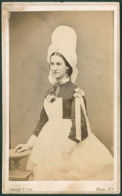 Costume of ladies' at the Normandy stand, Metropolitan Fair, April 1864 / Gurney & Son.