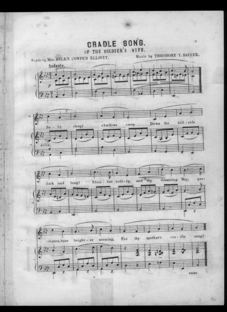 Cradle song of the soldier's wife