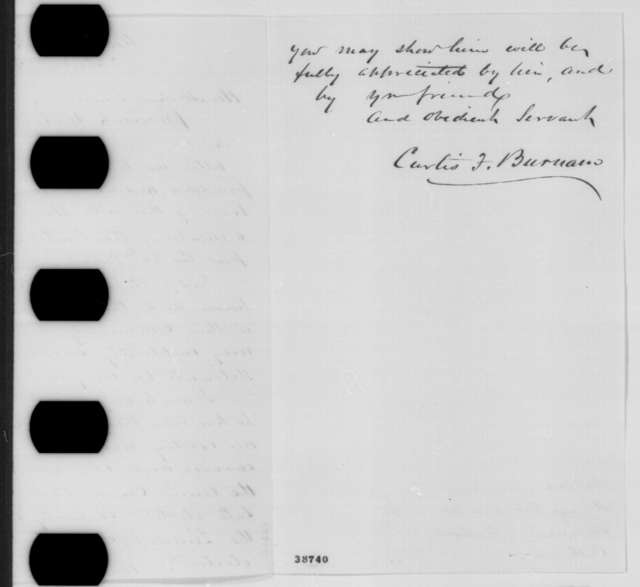 Curtis F. Burnam to Abraham Lincoln, Saturday, November 26, 1864  (Introduction)