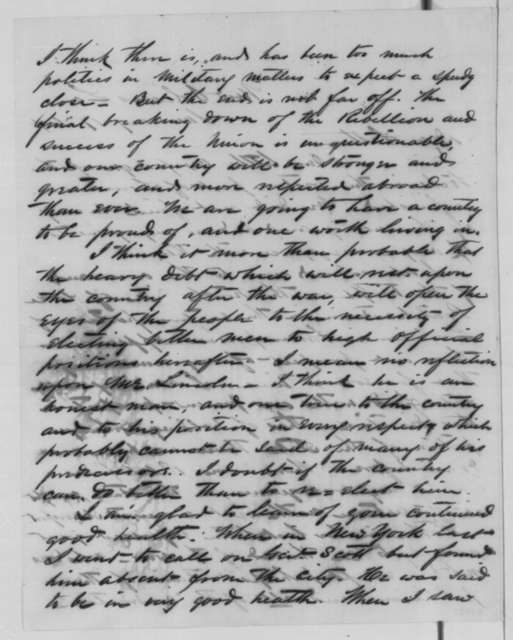 Cuvier Grover to John Grover, Sunday, January 17, 1864  (Military affairs in Louisiana)