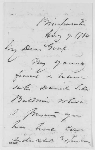 Daniel S. Dickinson to Ambrose E. Burnside, Tuesday, August 09, 1864  (Introduction)