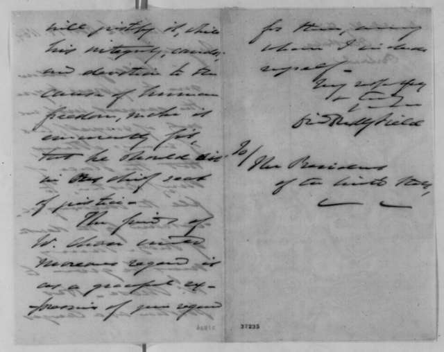 David D. Field to Abraham Lincoln, Friday, October 14, 1864  (Recommends Chase for Chief Justice)