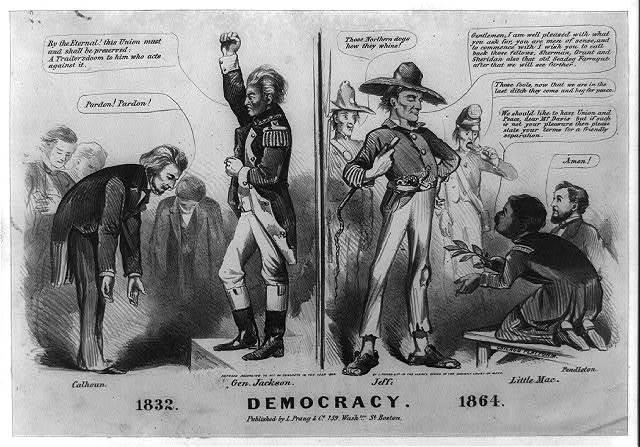 Democracy. 1832. 1864.