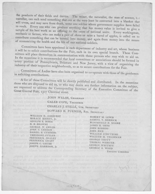 """Department of useful and fancy articles (Home-made) in aid of the Great Central fair, for the United States sanitary commission. It is purposed to hold a """"Great Fair"""" in this city, in the first week of June next, on behalf of the United States S"""