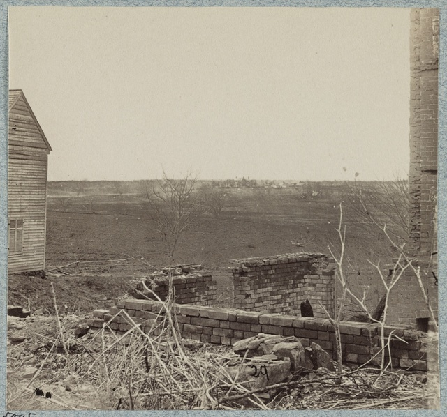 Distant view of Lacy House from Old Wilderness Tavern