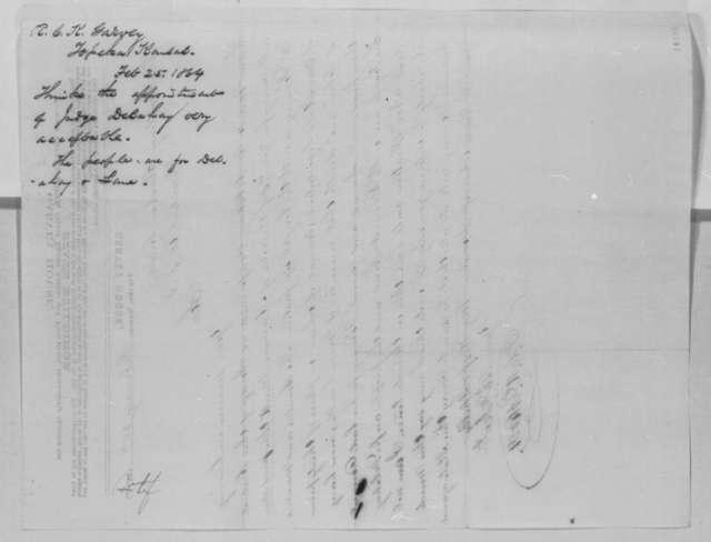 E. C. K. Garvey to Abraham Lincoln, Thursday, February 25, 1864  (Kansas politics)