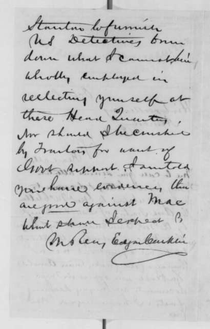 Edgar Conkling to Abraham Lincoln, Saturday, October 08, 1864  (General McClellan is a traitor)